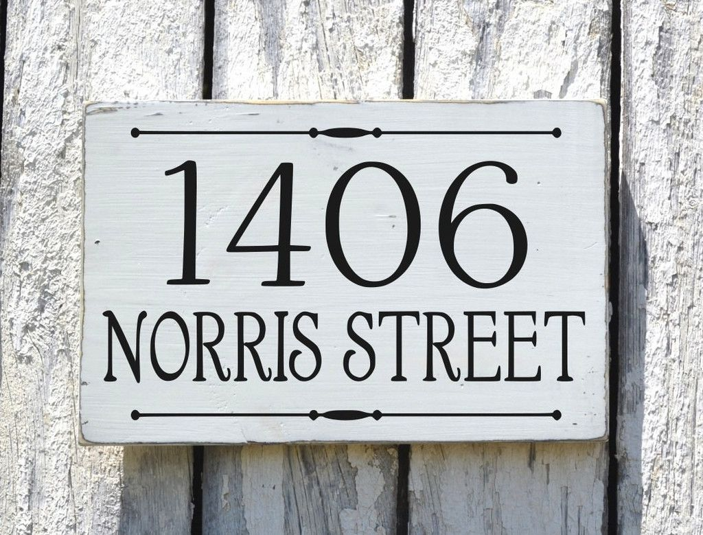 Address Plaque Custom House Numbers Sign Personalized