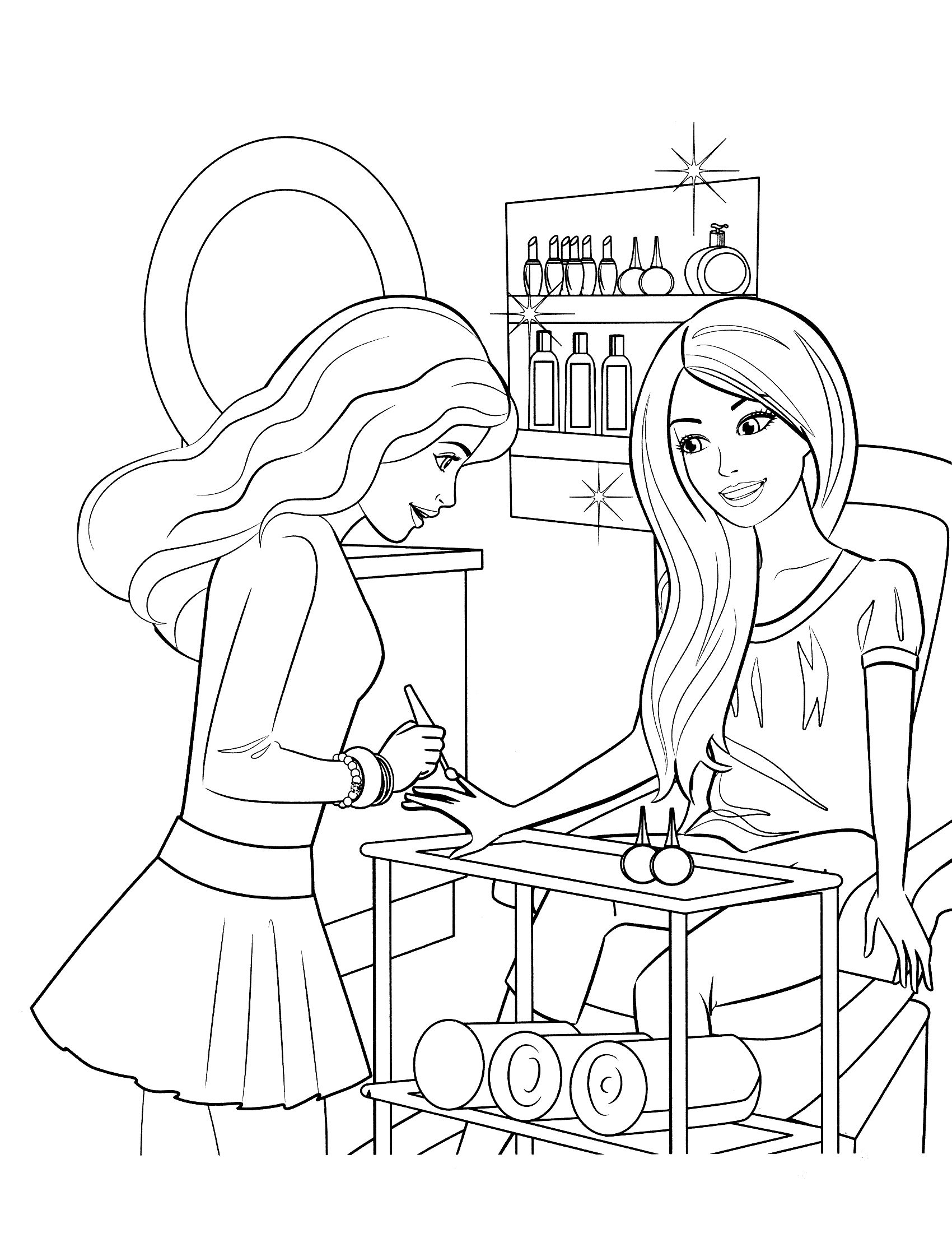 Free Printable Barbie Coloring Pages For Kids Barbie