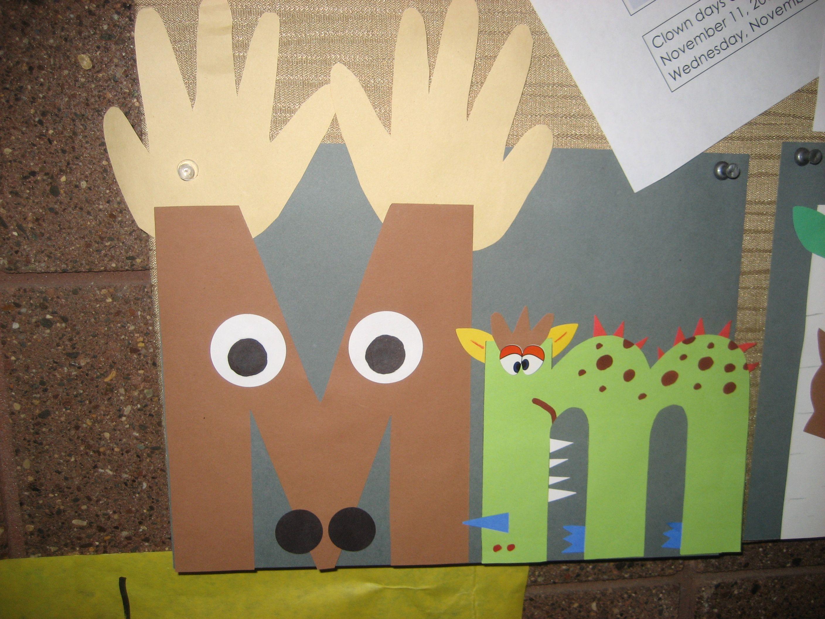 Mm Letter Of The Week Art Project Moose And Monster Note To Self Monkey Instead Of Monster