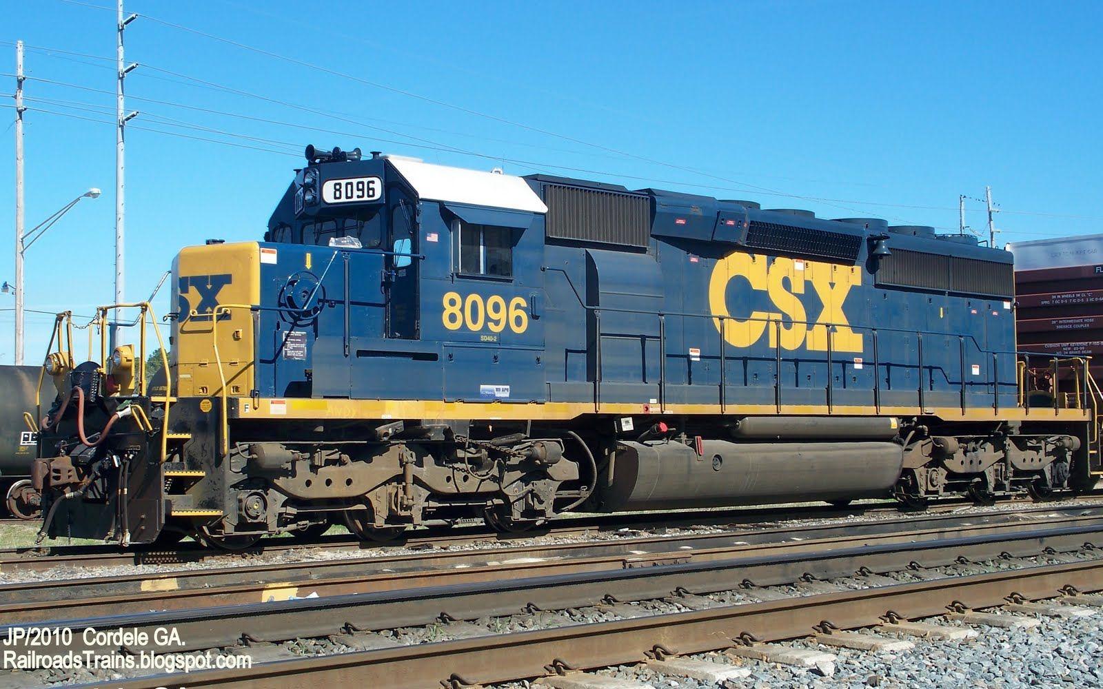 Csx Sd40 2 Csx Railroad Locomotive Train Engine