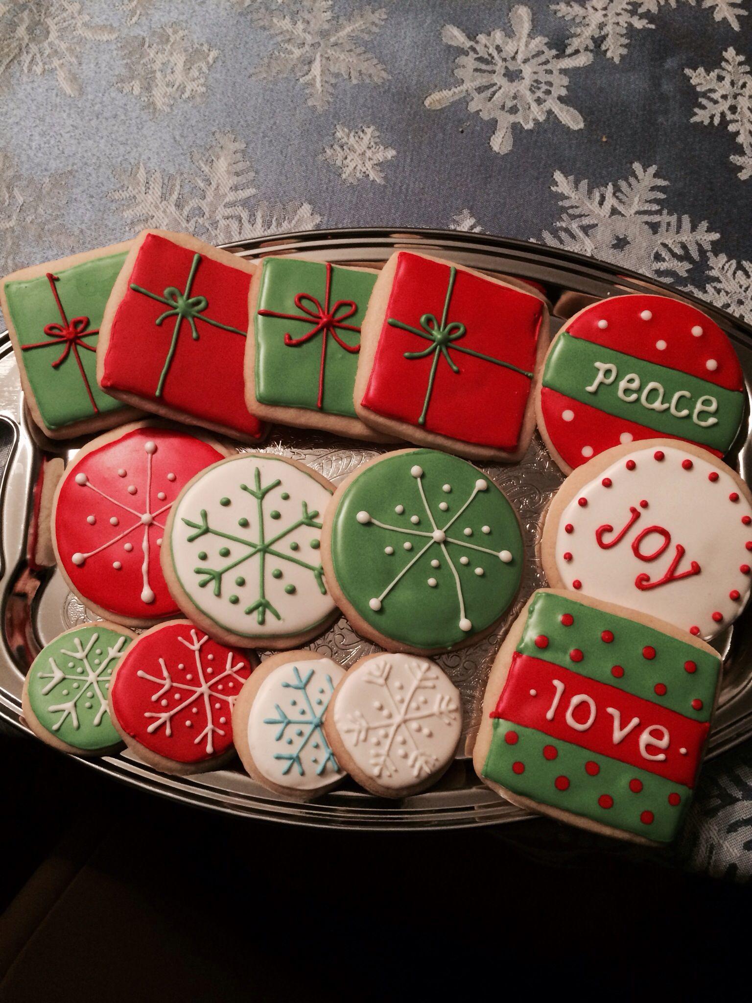 Christmas sugar cookies with royal icing Cookies