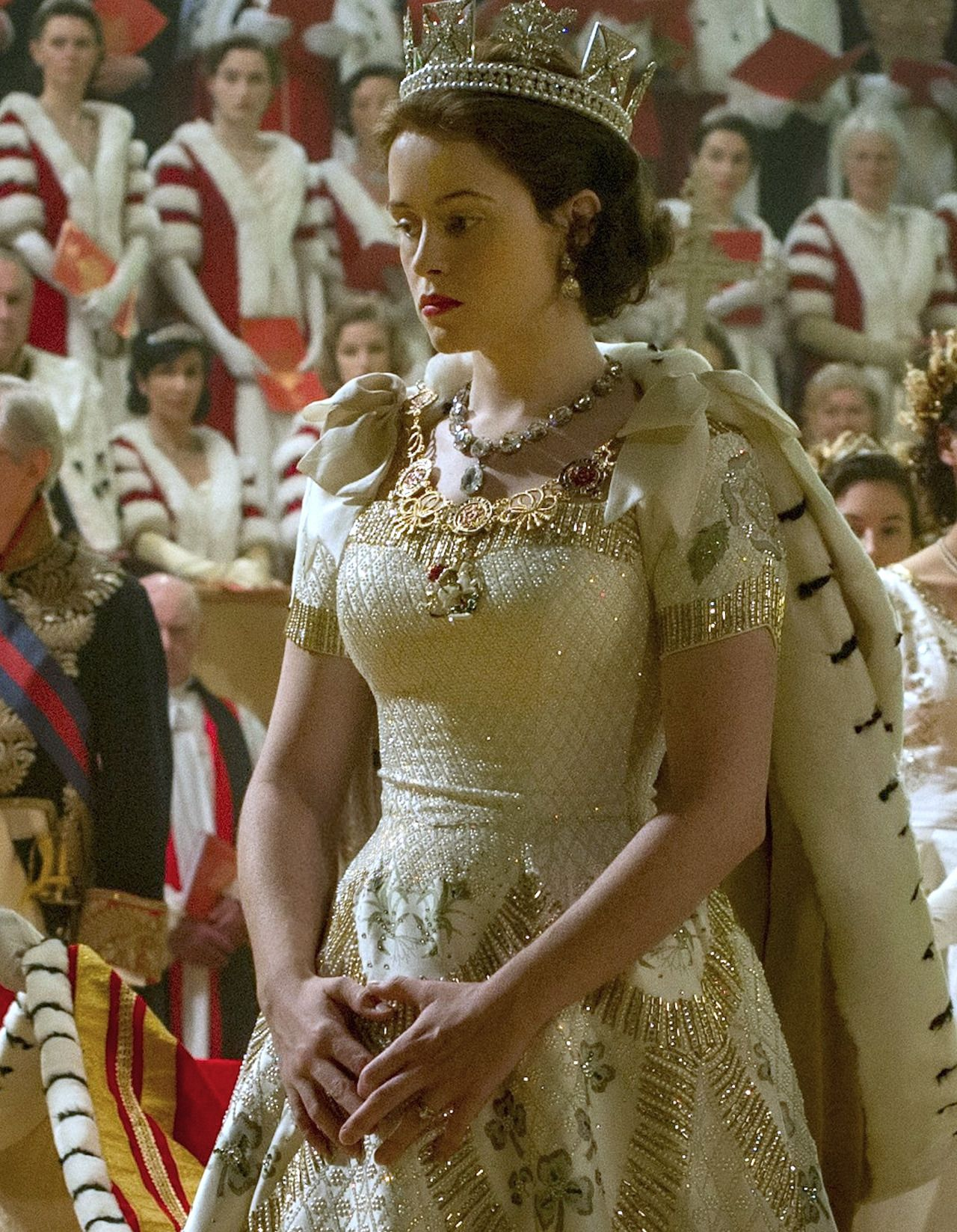 Claire Foy as Queen Elizabeth II in The Crown 2016 The