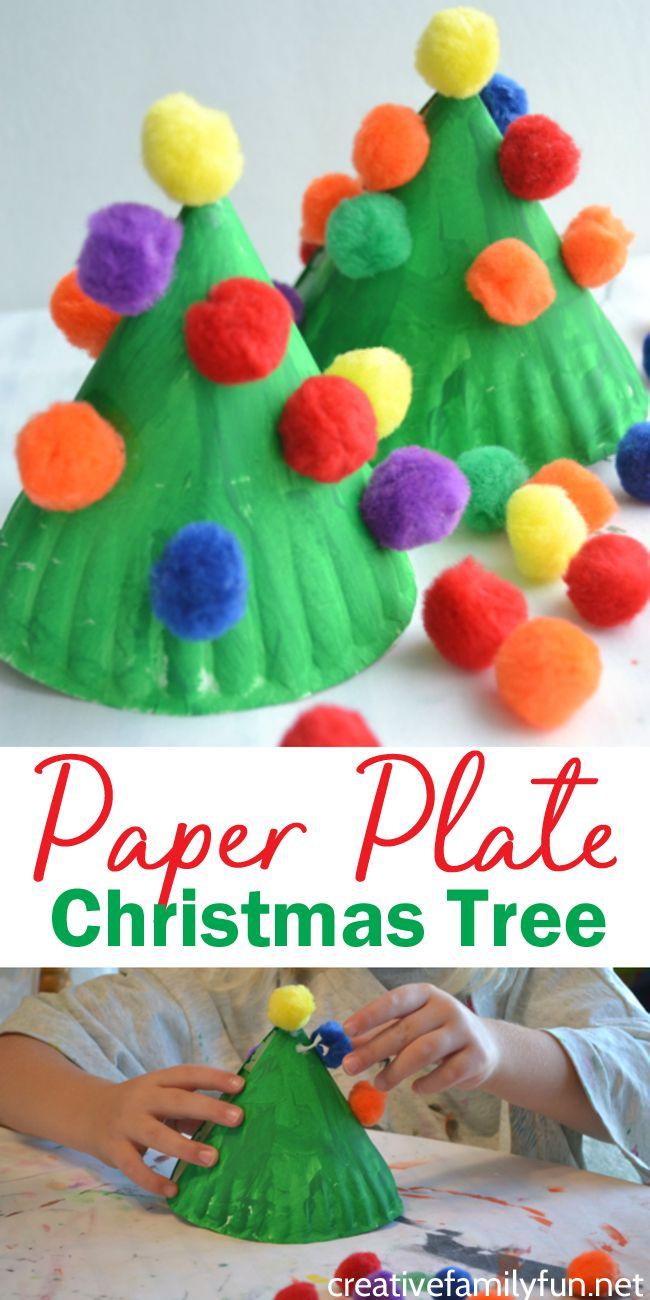 Paper Plate Christmas Tree Kids Craft Tree crafts