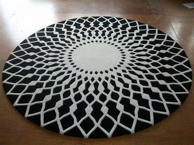 Wool Round Large Area Rugs Luxury Prayer Carpet Modern