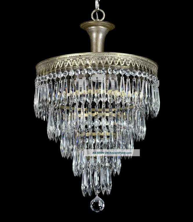 Vintage Wedding Cake Antique Chandelier Pendant Crystal Empire Art Deco Red Chandeliers Fixtures Sconces