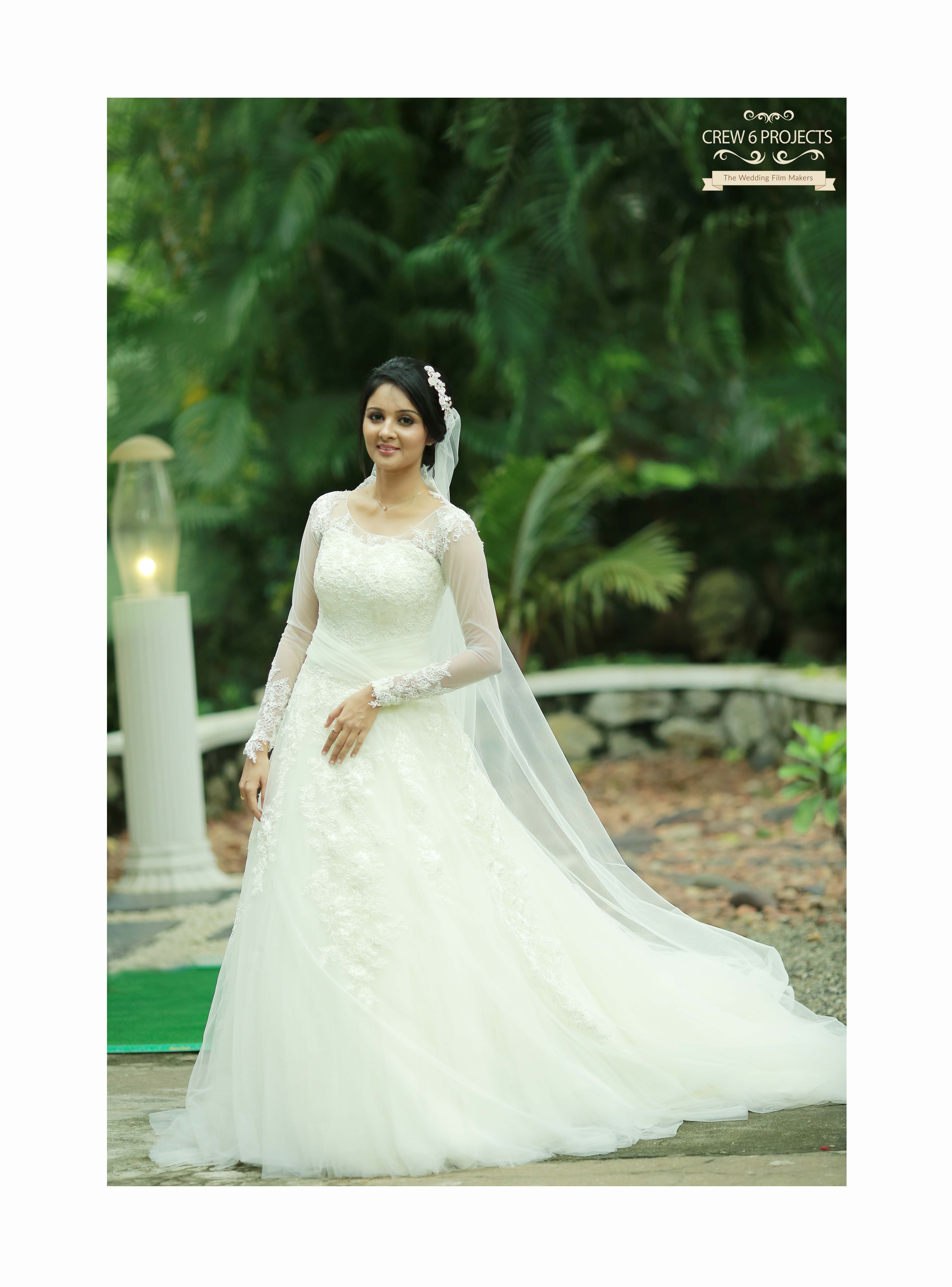 Kerala Christian Bride. Super Wedding Gown