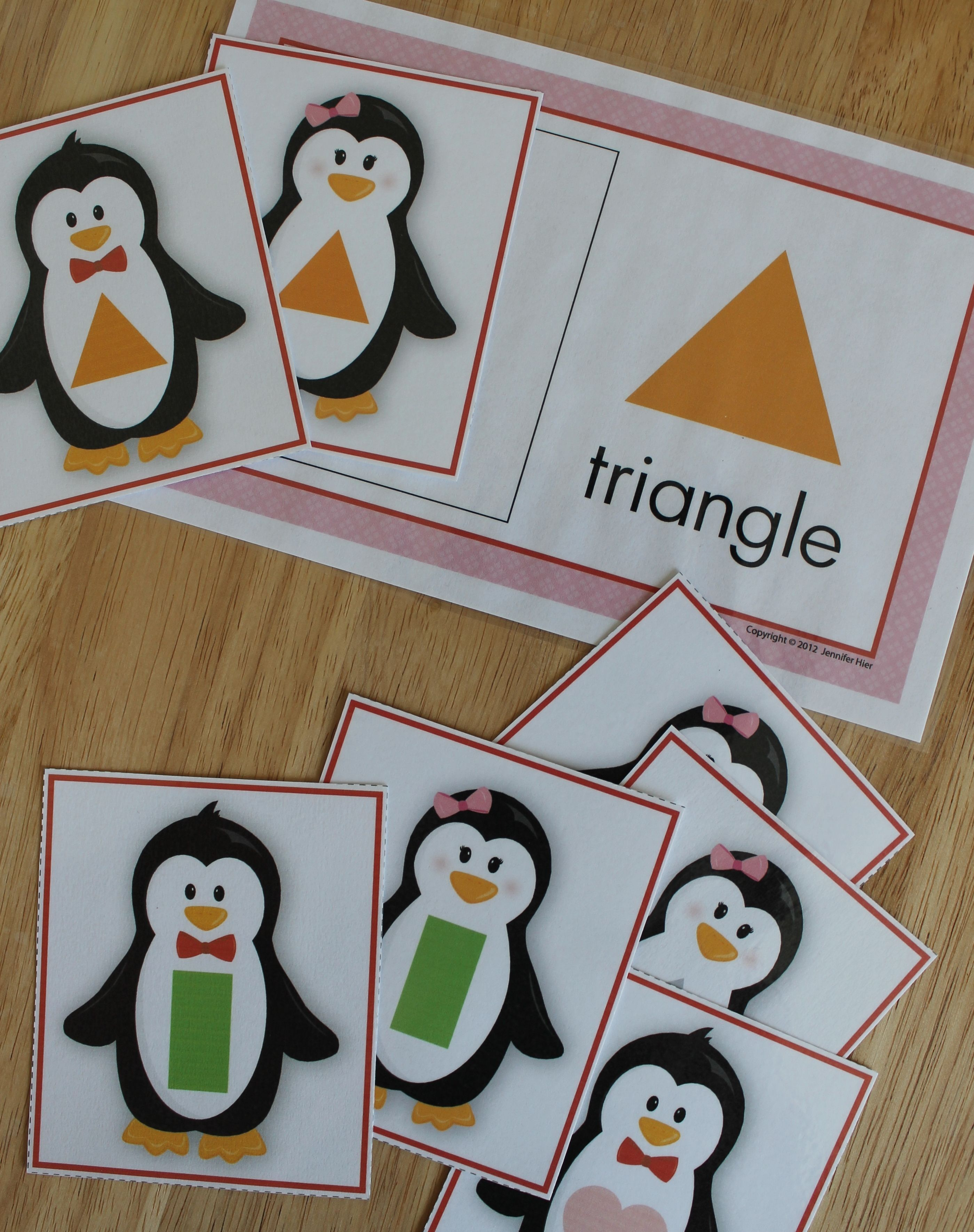 Penguins Shape Sort