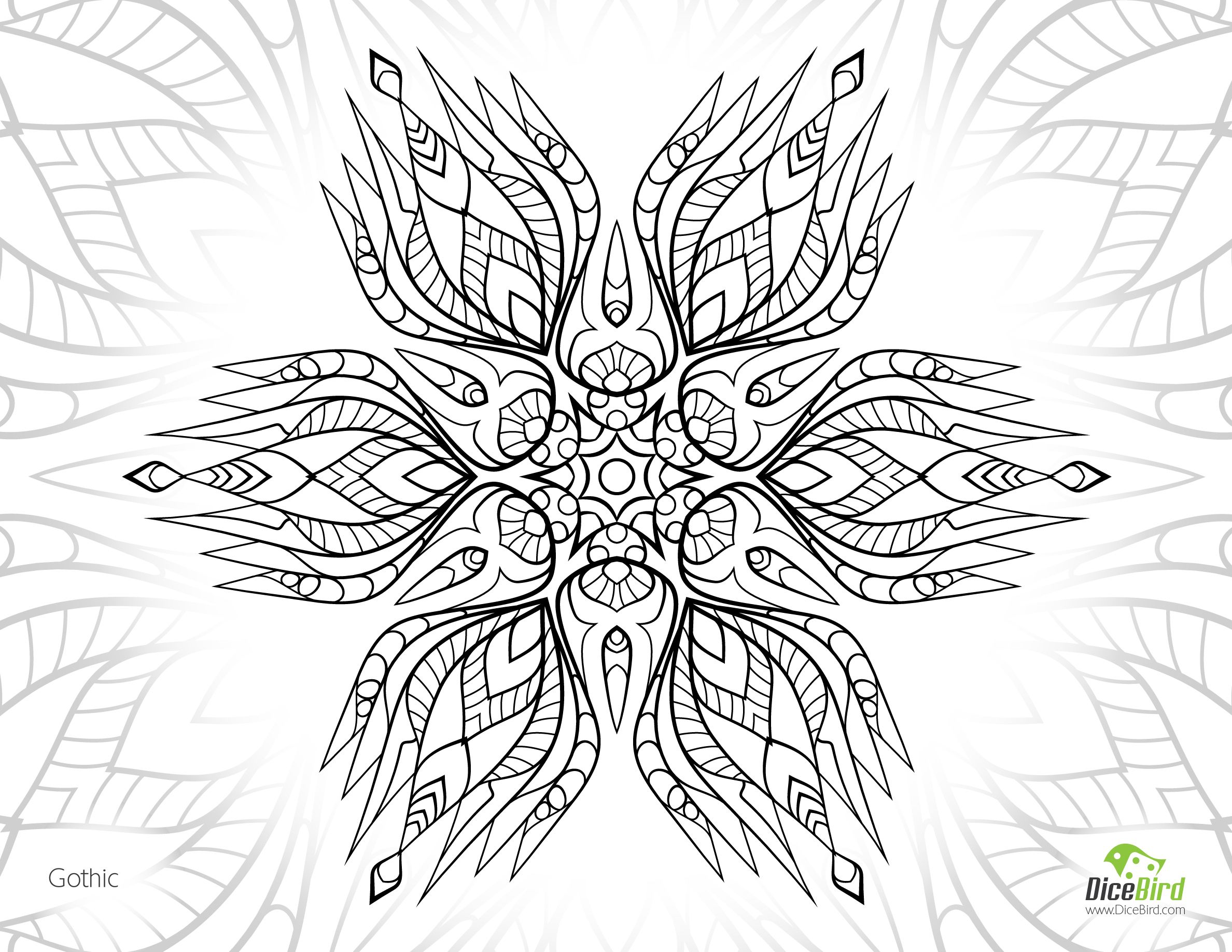 Gothic Flower Free Adult Coloring Pictures Gothic Flowers Adult