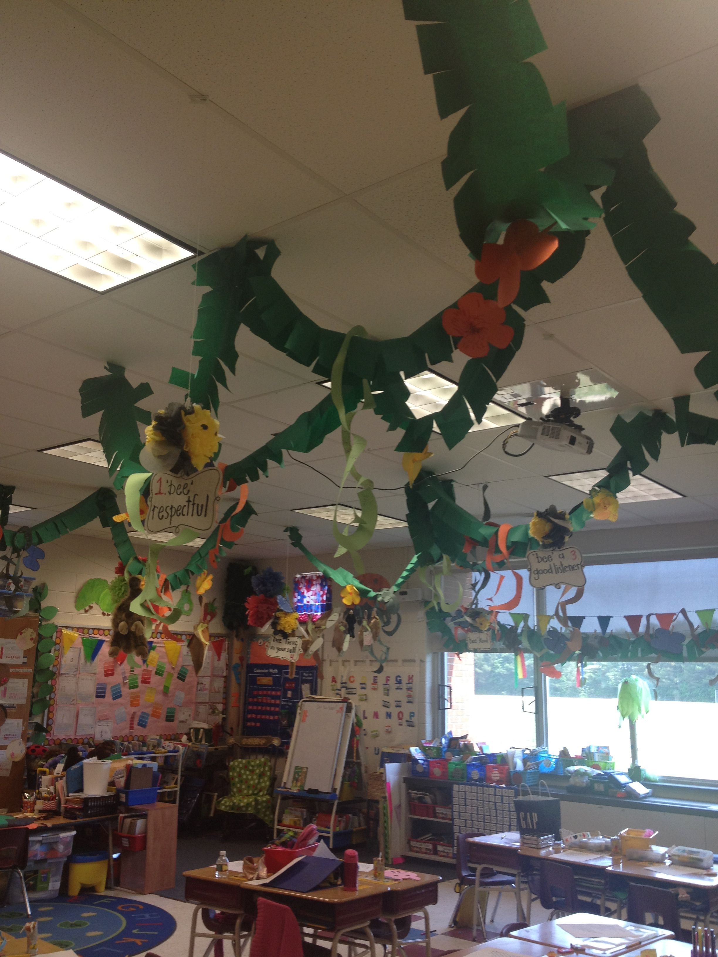 Hanging Vines For Rainforest Classroom
