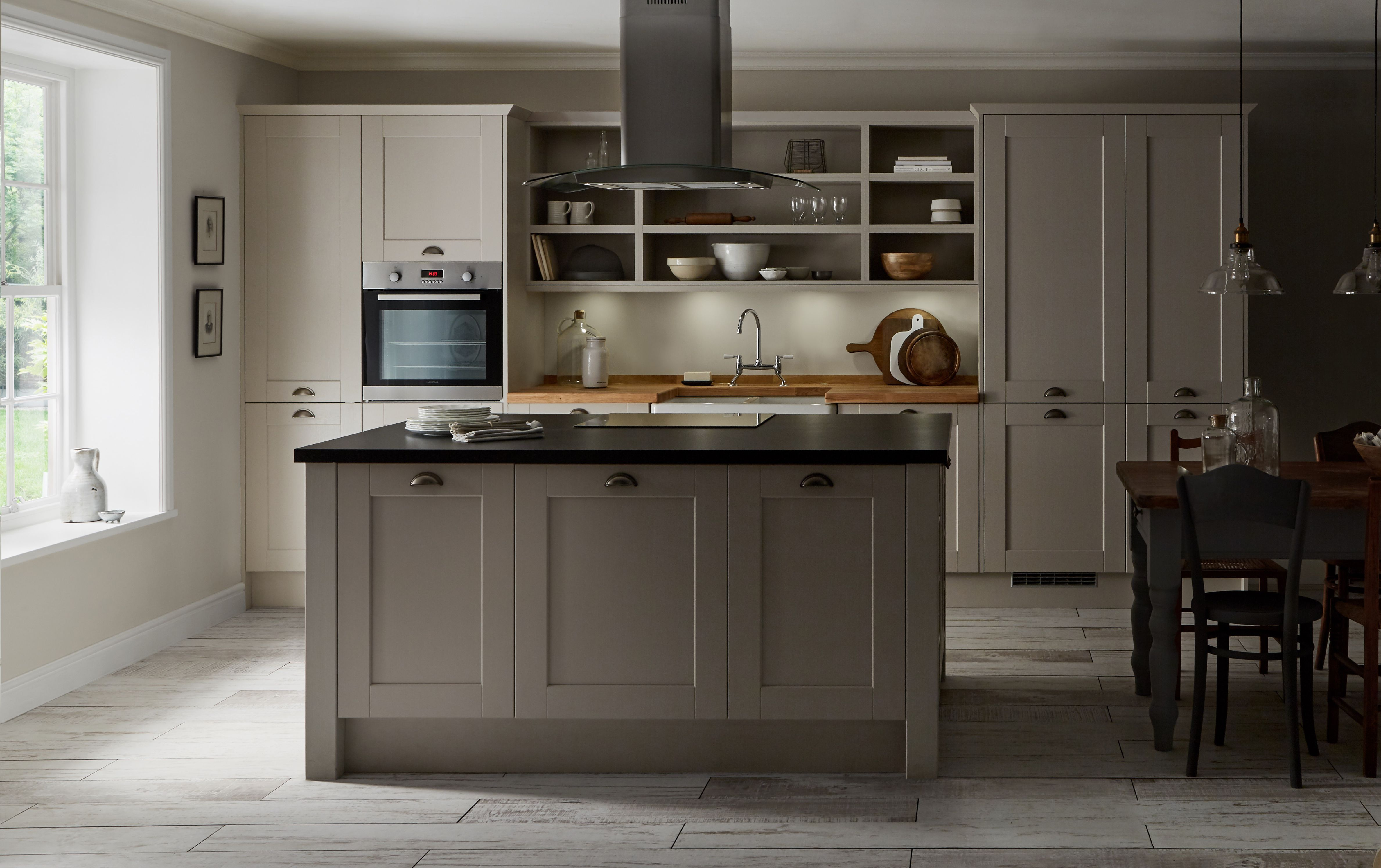 Burford Grained Stone Kitchen from The Shaker Collection