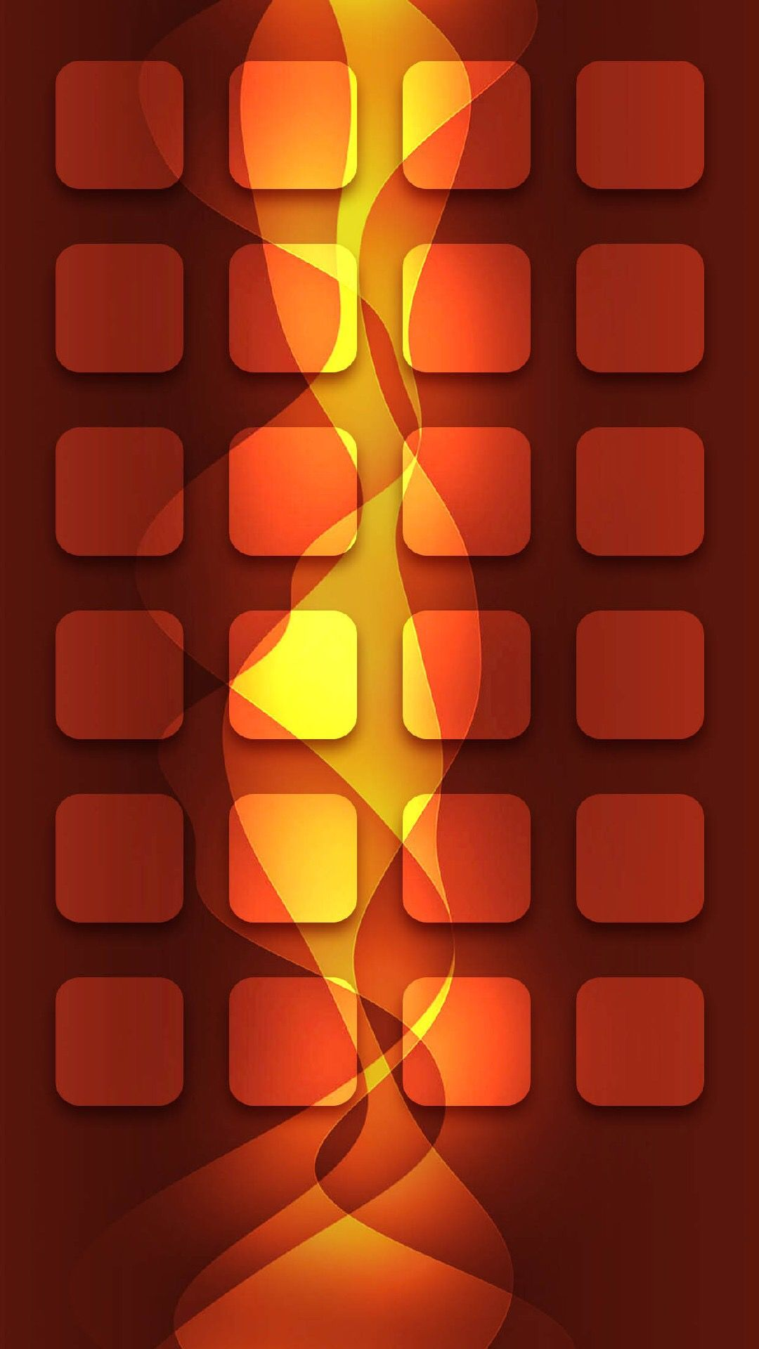 TAP AND GET THE FREE APP! Shelves Abstract Fire Orange