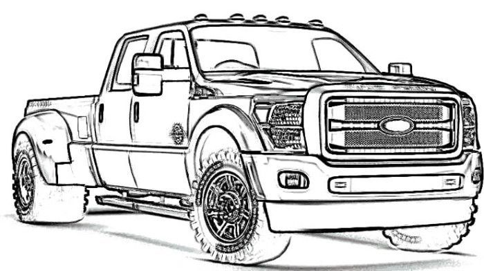 Ford Truck Coloring Pages | rod | Pinterest | Ford trucks, Ford and Car stuff