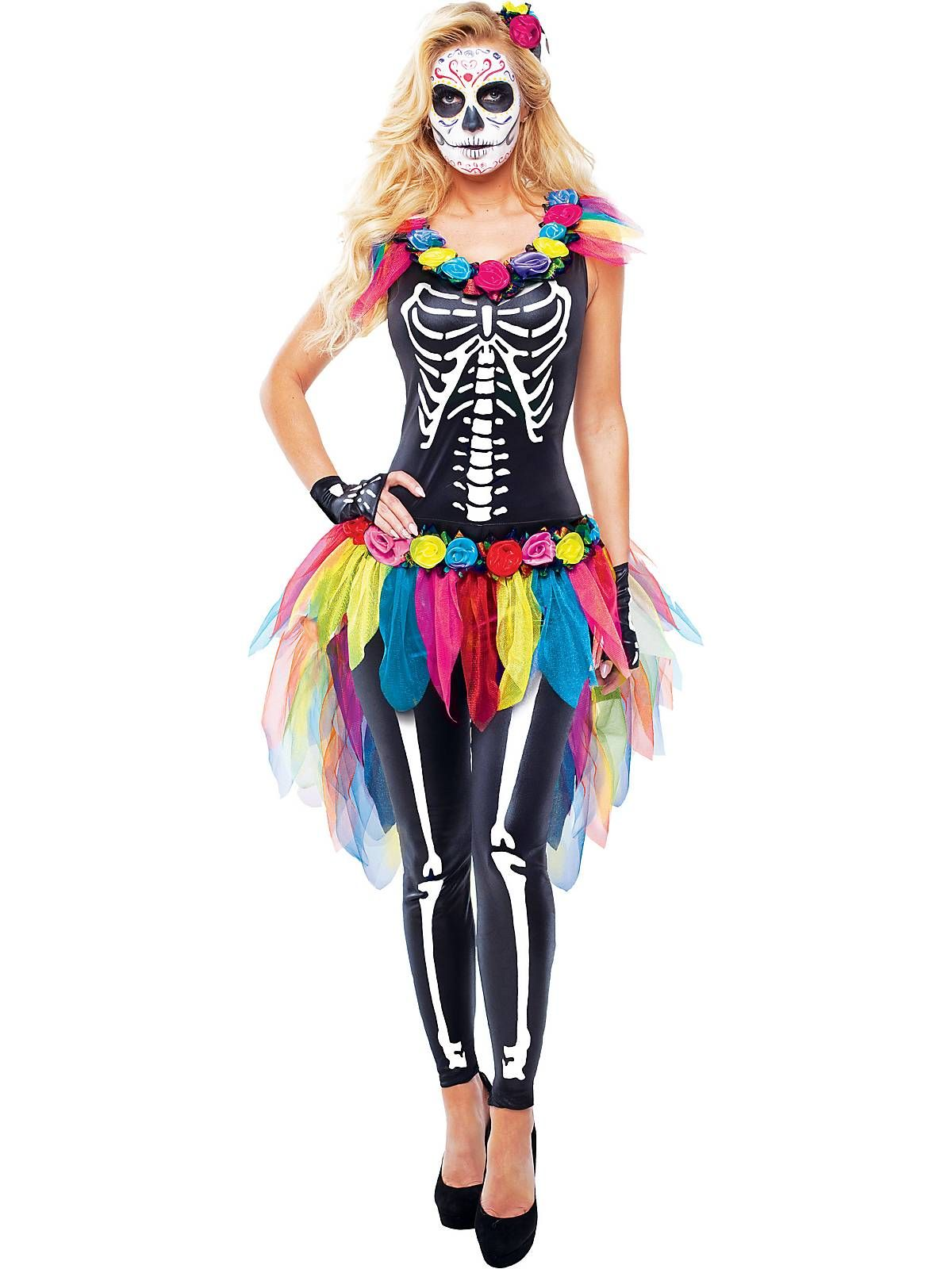 Celebrity Day of the Dead Women's Costume For women, The