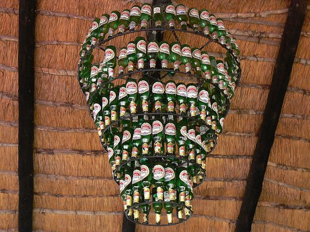 Make A Beer Bottle Chandelier Amazing Used