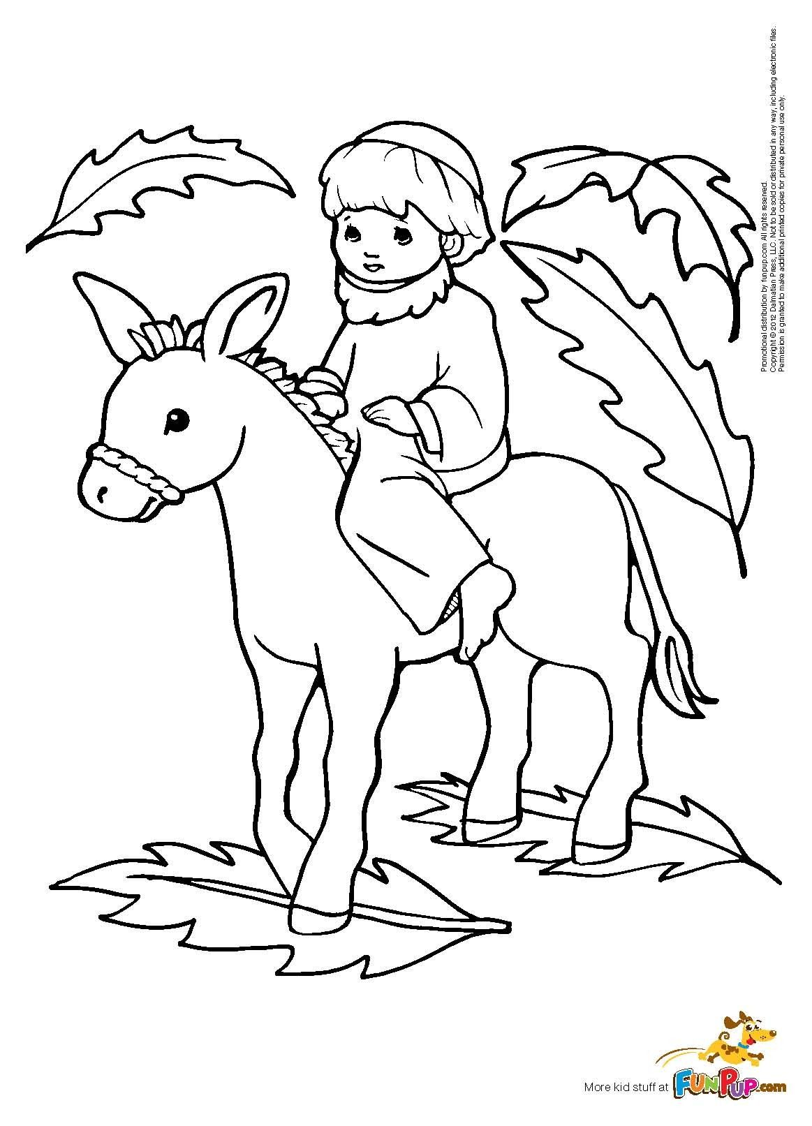 Palm Sunday Coloring Page Free Printable Coloring Pages
