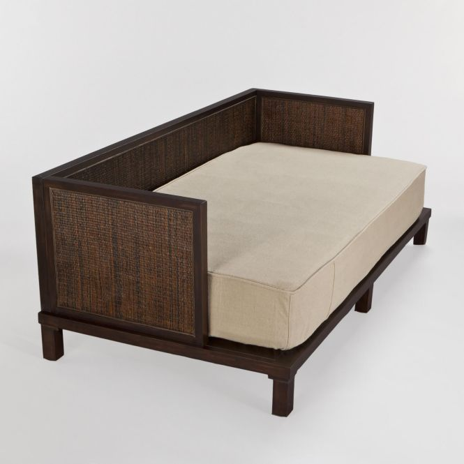 Burlap Daybed Twin Mattress Cover Love This Clean Look For Since The Bed Will