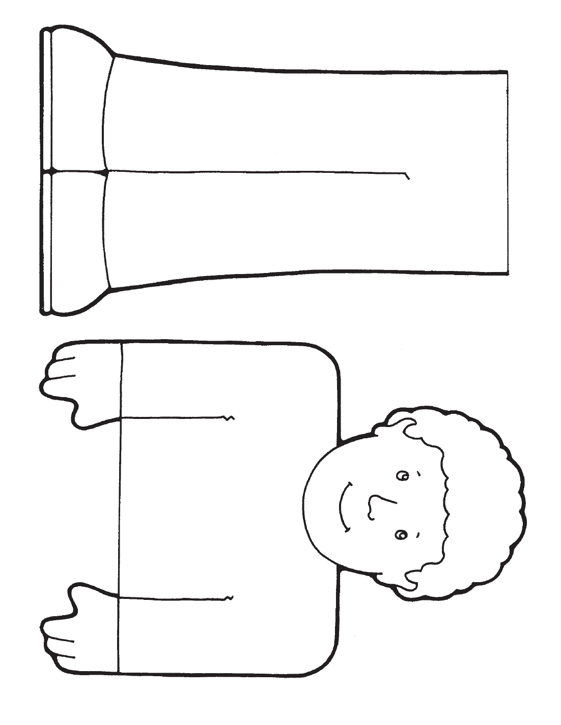 Paper Bag Puppet Pages Coloring Pages