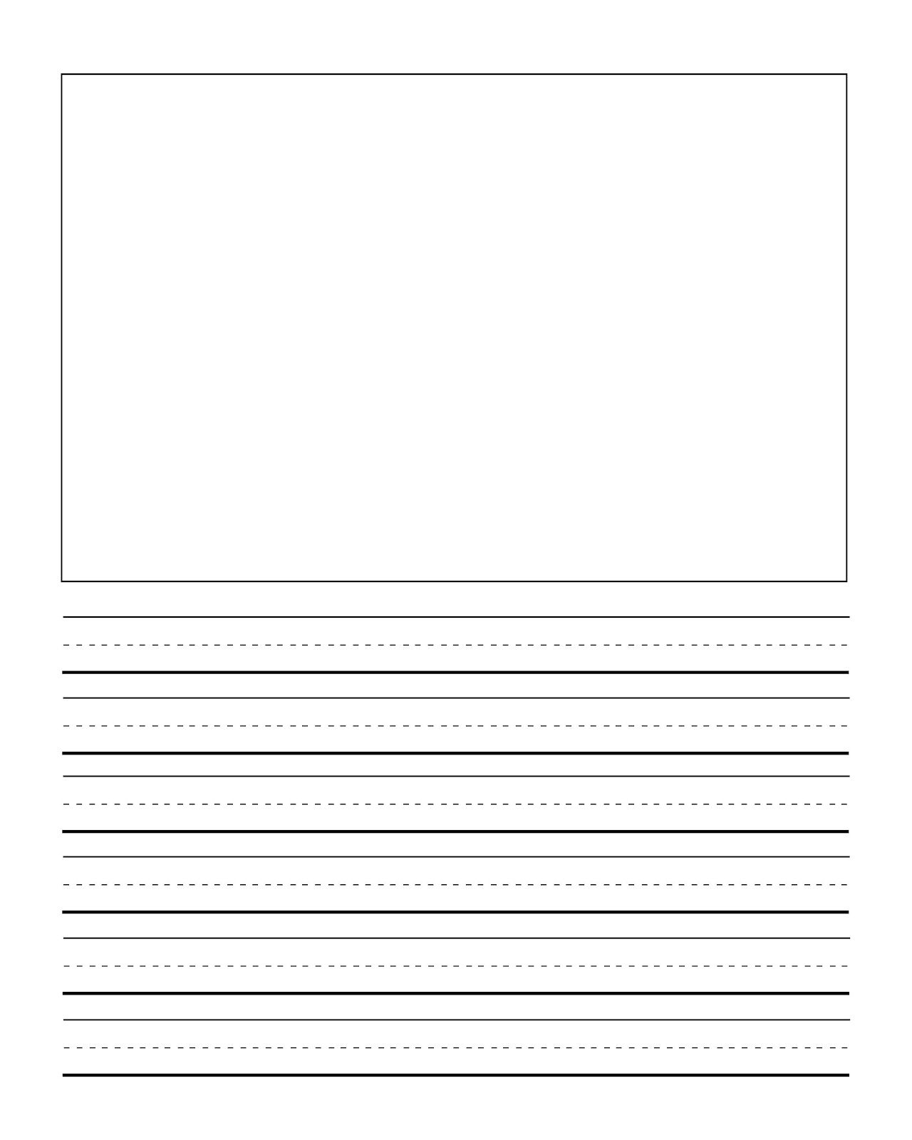 First Grade Writng Paper Template With Picture