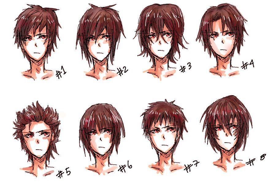 Inspiration Boy's / Men's Hairstyles Manga Anime