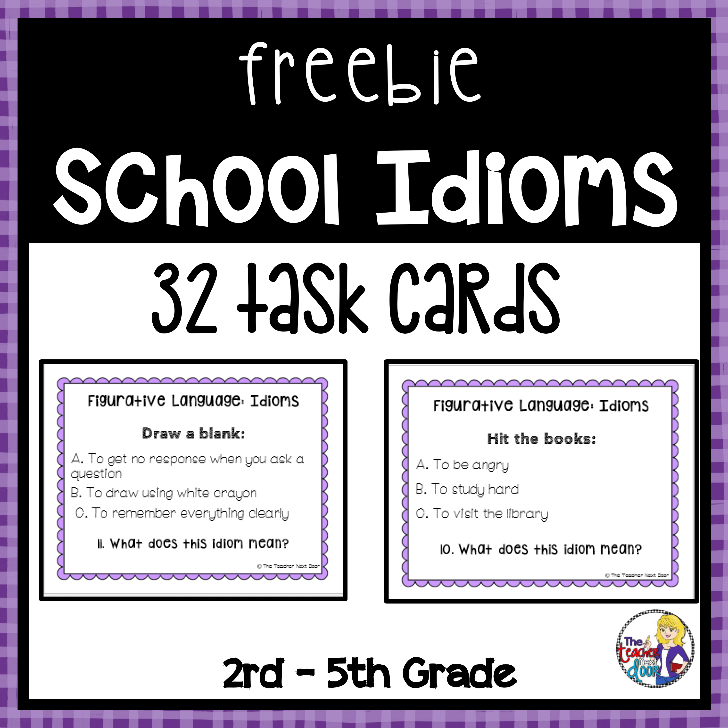 These 32 Task Cards Focus On Idioms Related To School