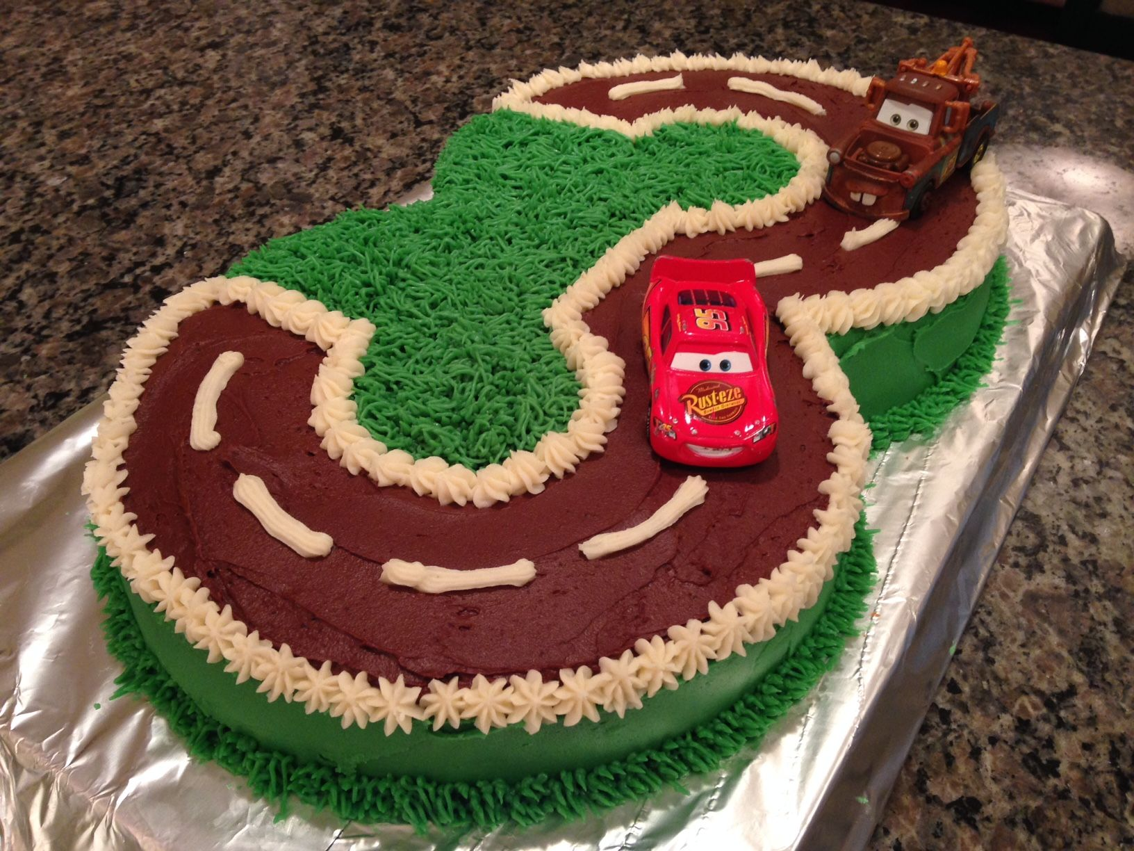 I Made This Cars Birthday Cake For My 3 Year Old Nephew
