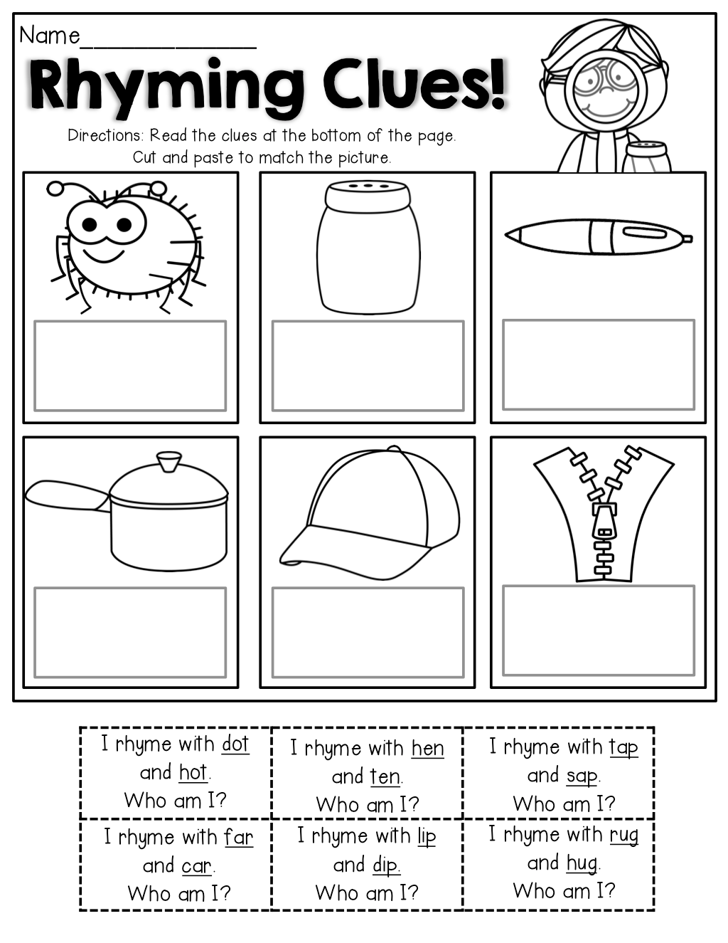Worksheet Kindergarten Rhyming Worksheets Worksheet Fun