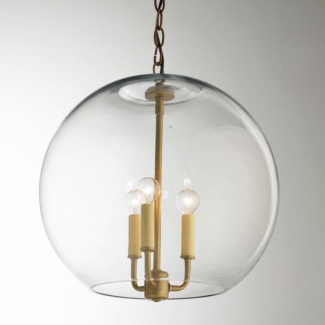 16 Clear Glass Sphere Chandelier
