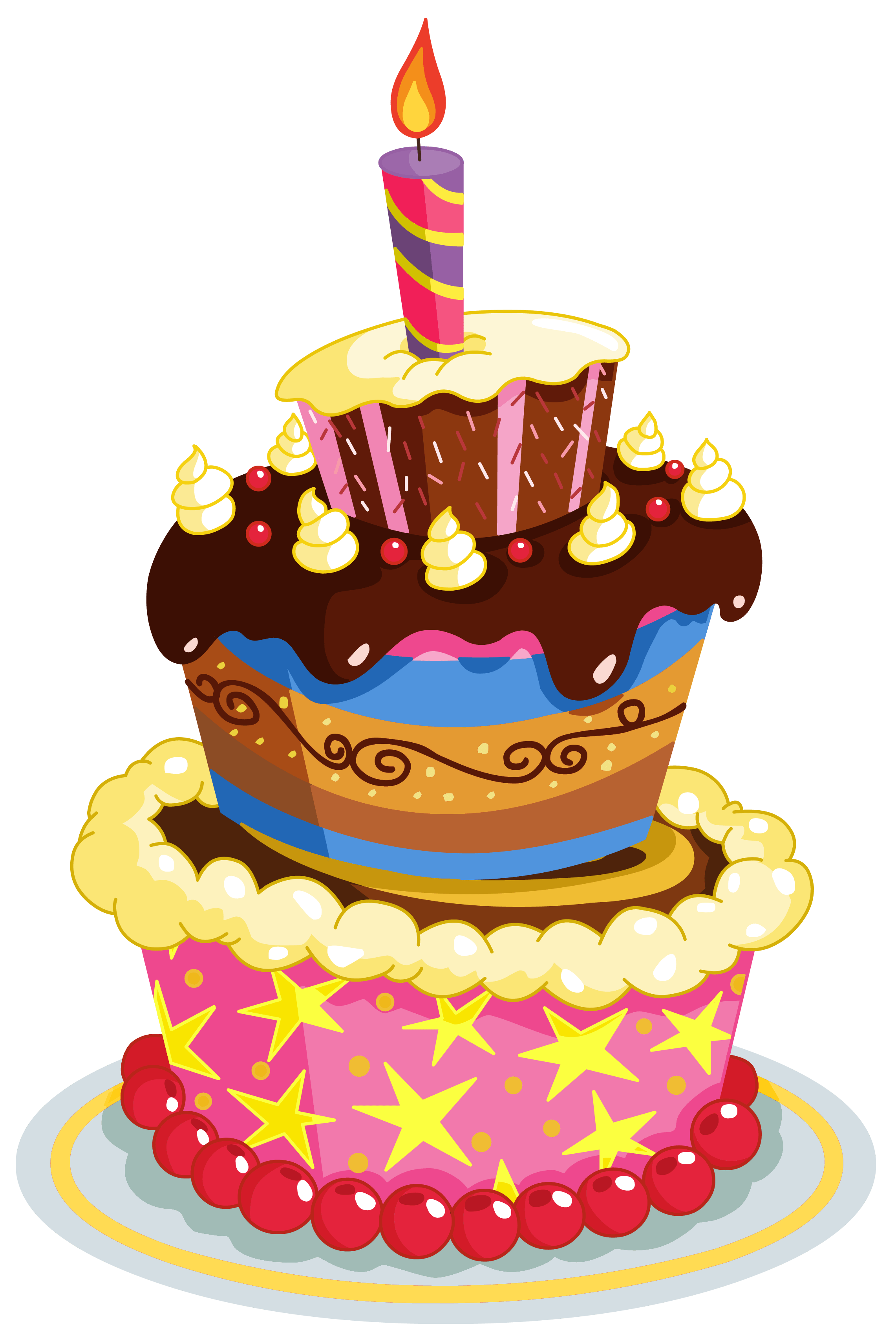 Colorful Birthday Cake PNG Clipart happy birthday