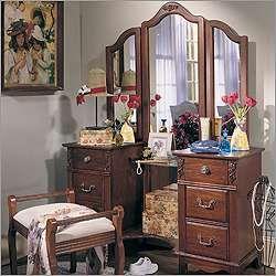 Antique Treasures Six Drawer Bedroom Vanity Set Photo