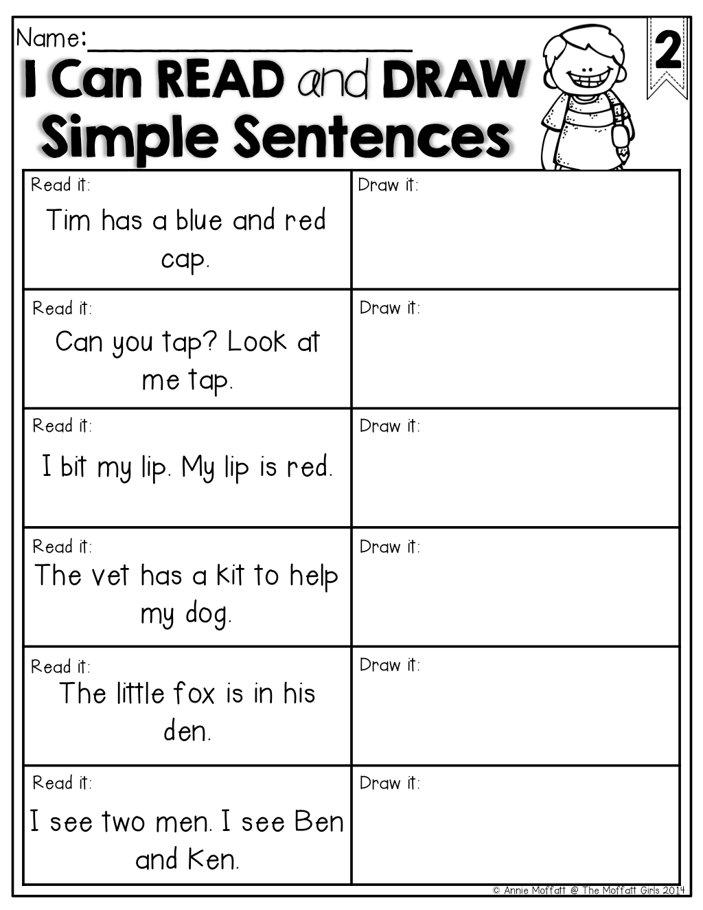 Read And Draw Simple Sentences What A Great Way To Check For Comprehension Of Sight Words And