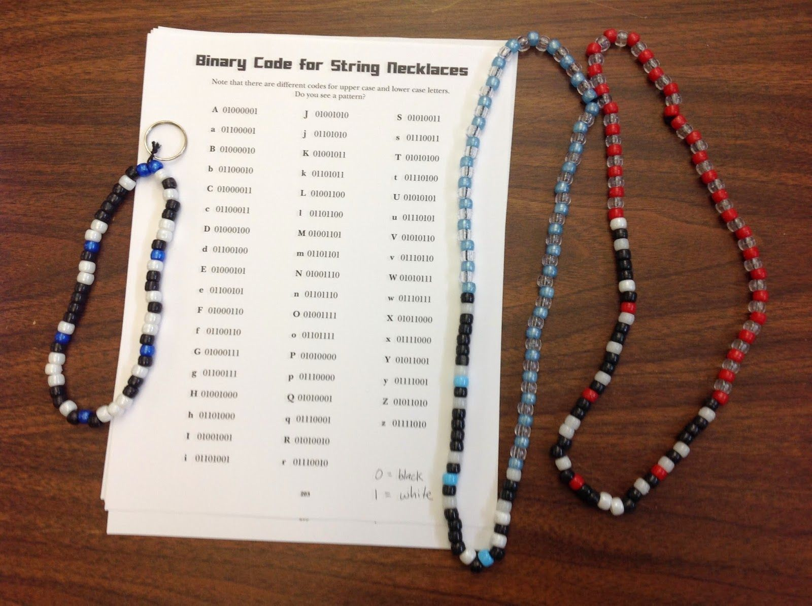 The Lion Is A Bookworm Craft Binary Code Bracelets