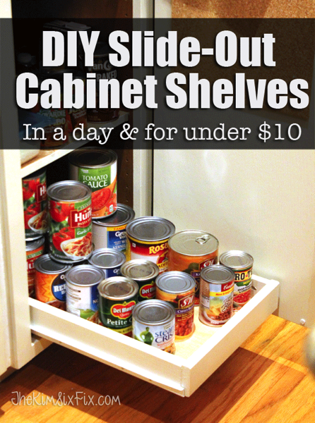 Organize Your Pantry with DIY SlideOut Shelves