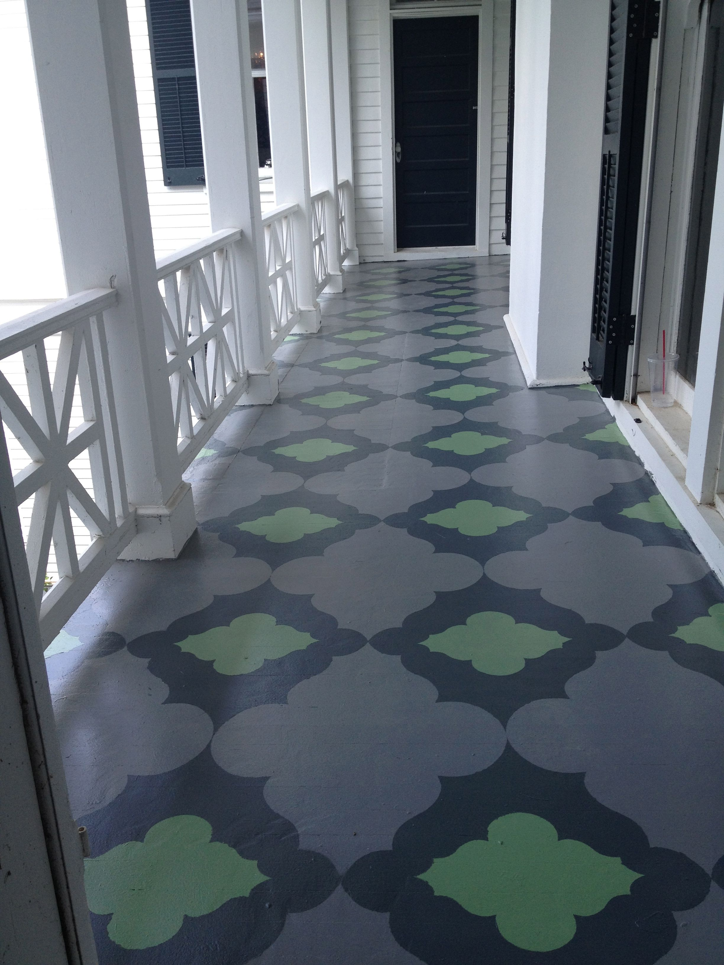 Painted Porch floor..Farrow and Ball Paint, Sunny Goode