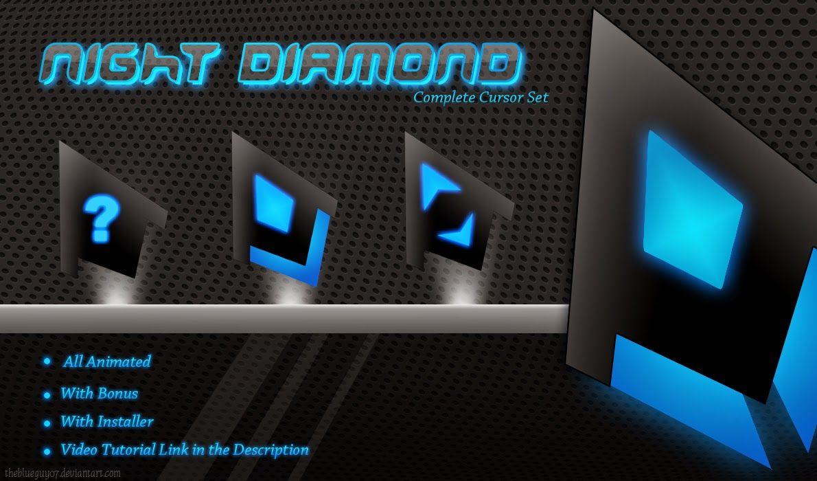Night Diamond Blue Cursor cleodesktop http//www