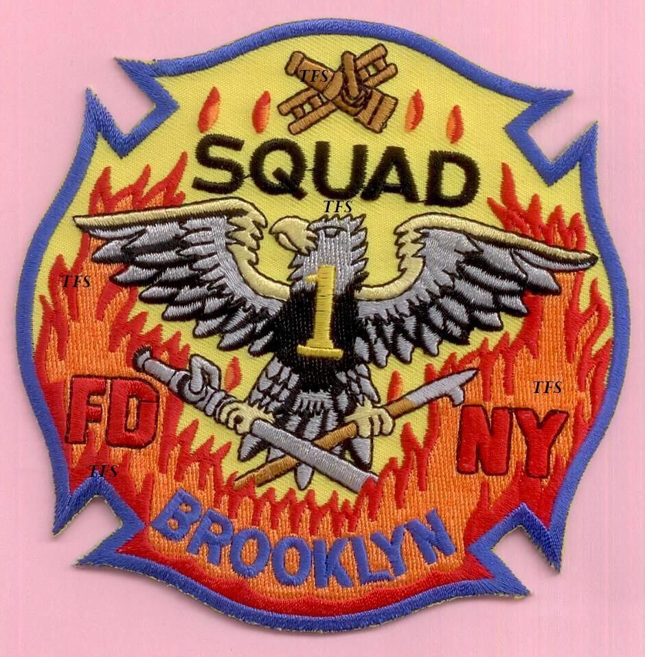 New York City Fire Dept Squad 1 Patch Patches FIRE