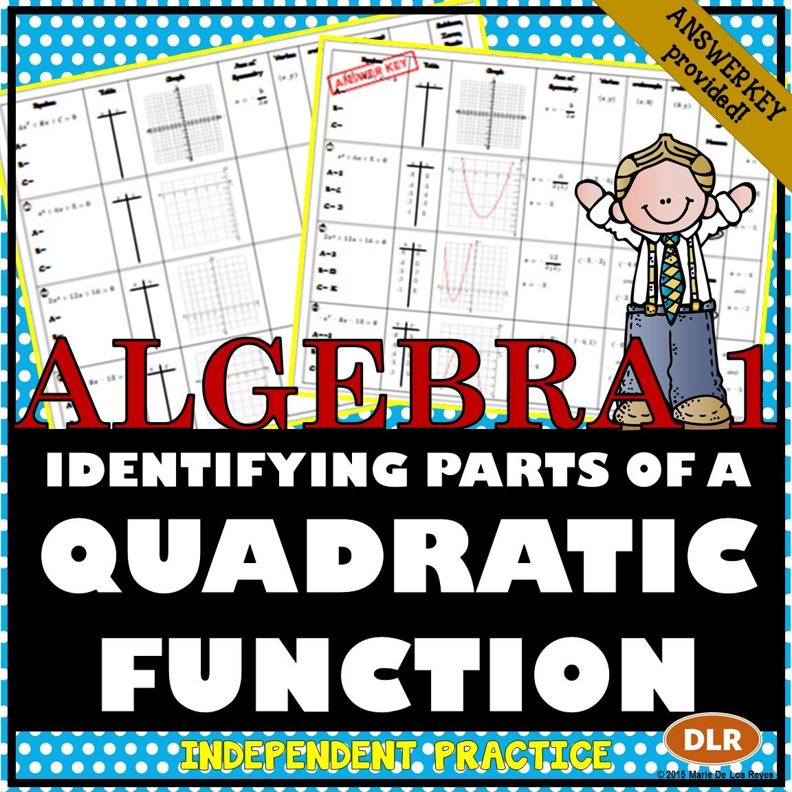 Identifying Parts Of A Quadratic Function Worksheet Great Complement To An Introductory Lesson