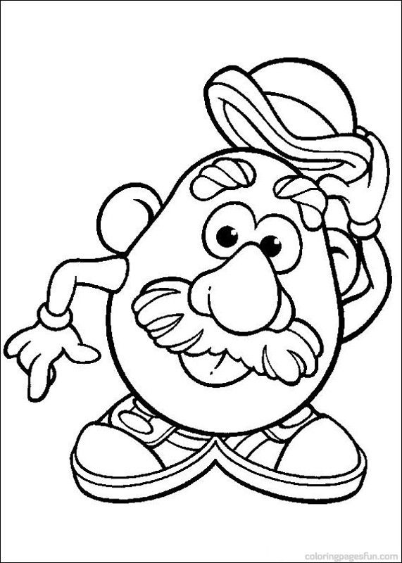 mr. potato head coloring pages 54  relay ideas