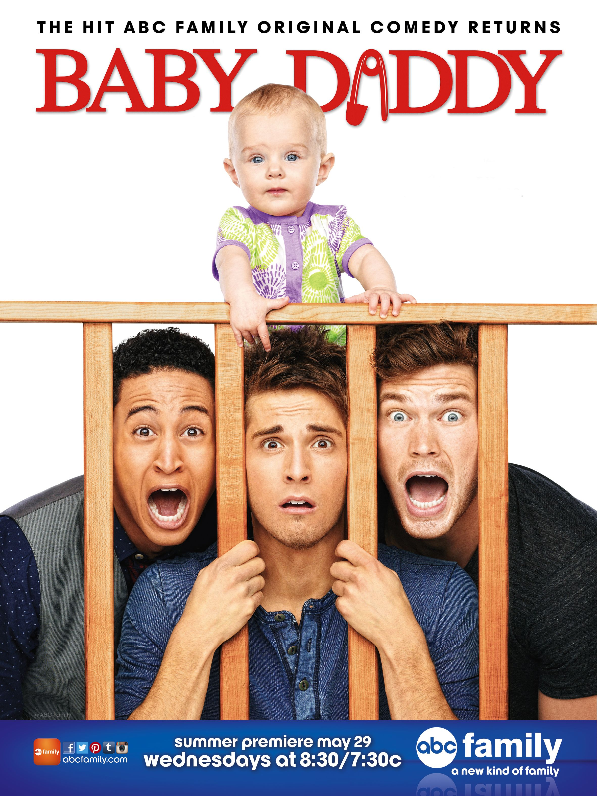 Check out this new poster for Baby Daddy! Baby Daddy