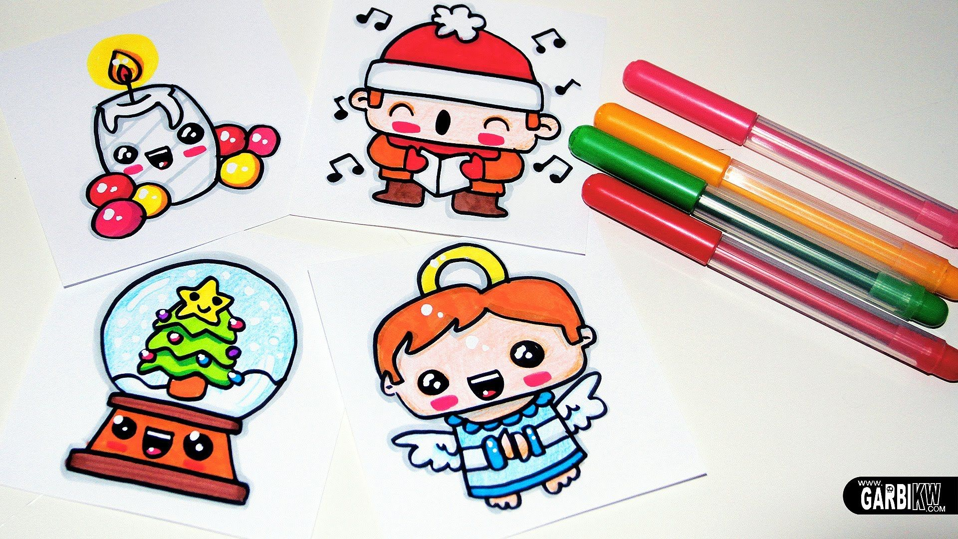 Drawing Cute Christmas Easy and Kawaii Drawings by Garbi