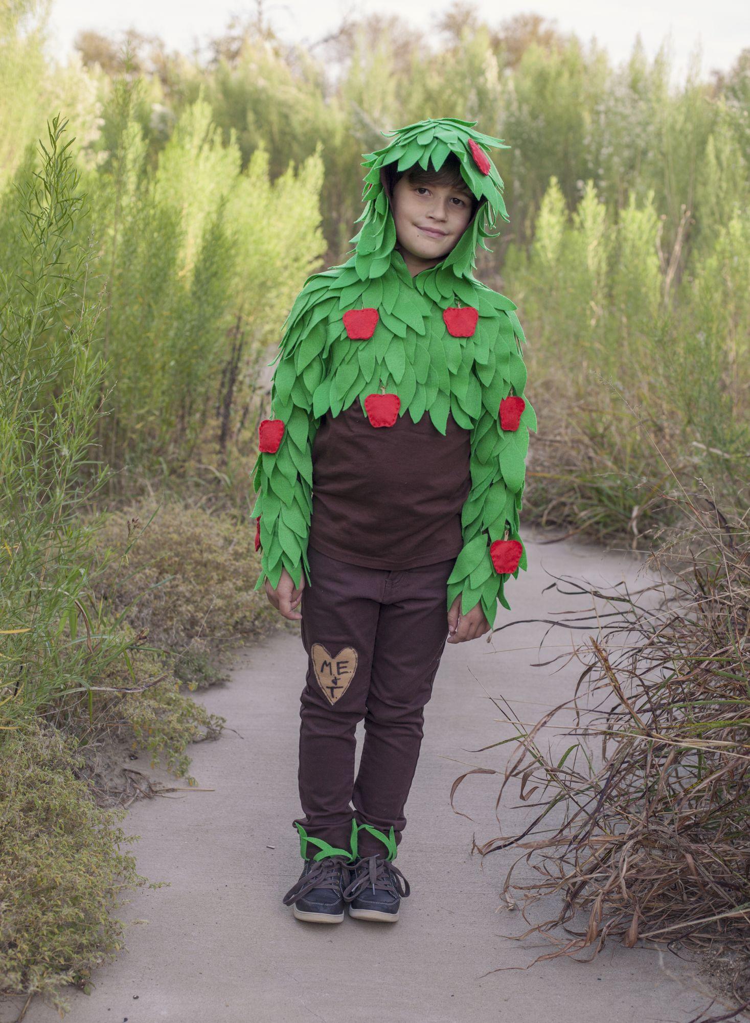 The Giving Tree Costume idea, felt leaves, with felt