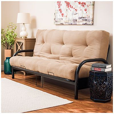 Black Futon Frame With Camel Mattress Set At Lots