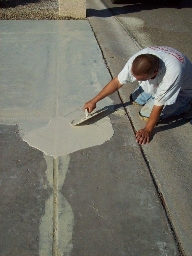 diy concrete walkway repair
