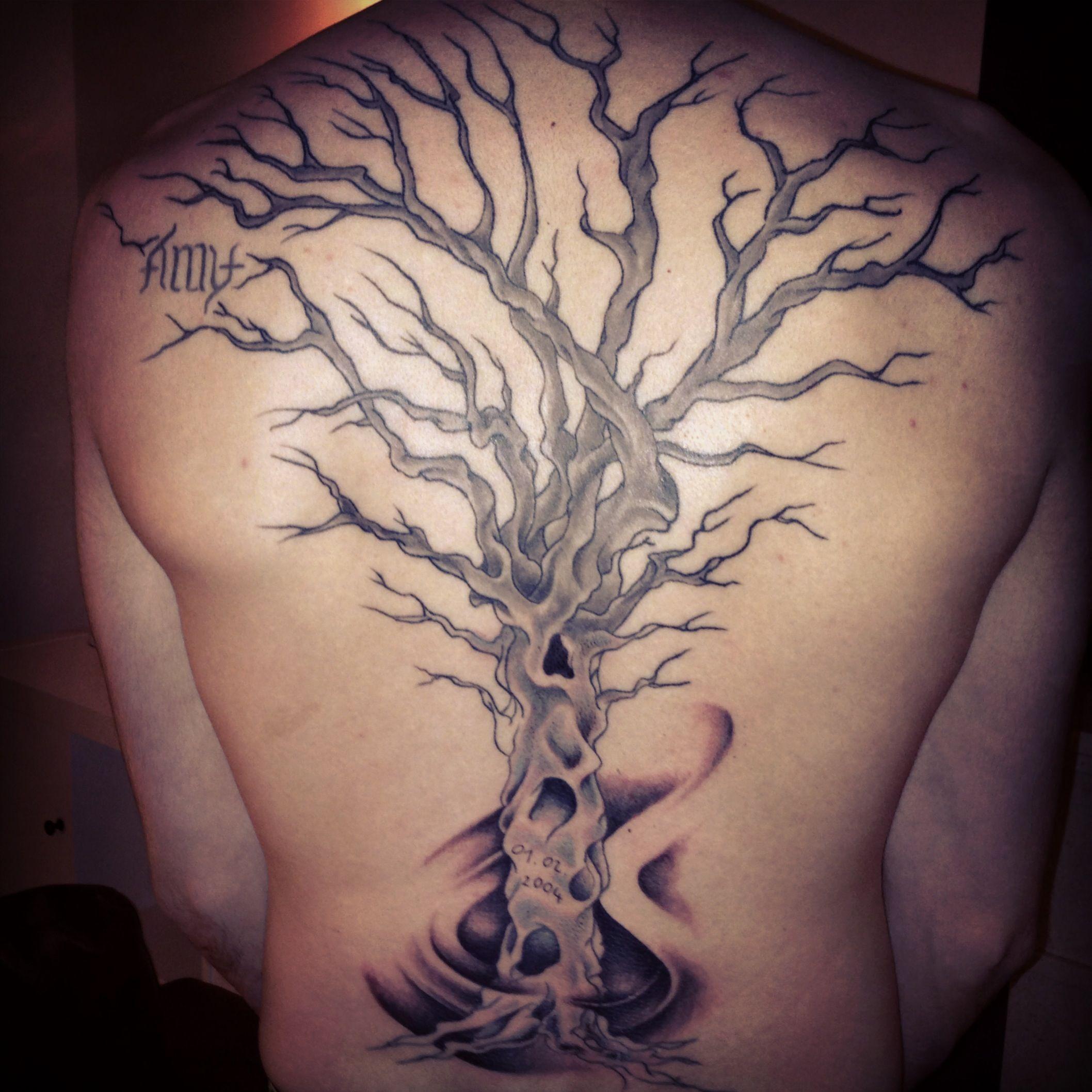 Back Tree Tattoo Tattoo Ideas Pinterest Tattoo