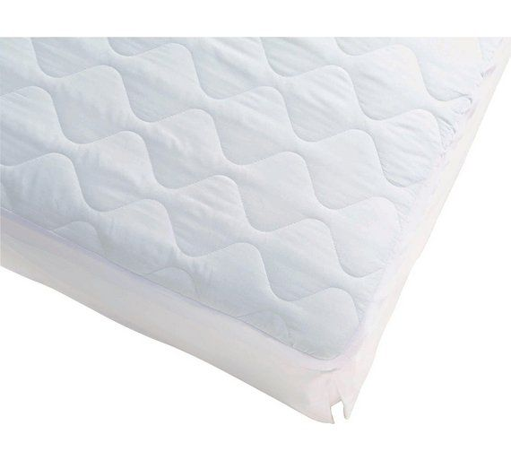 Simple Value Quilted Mattress Protector Single At Argos Co Uk Visit