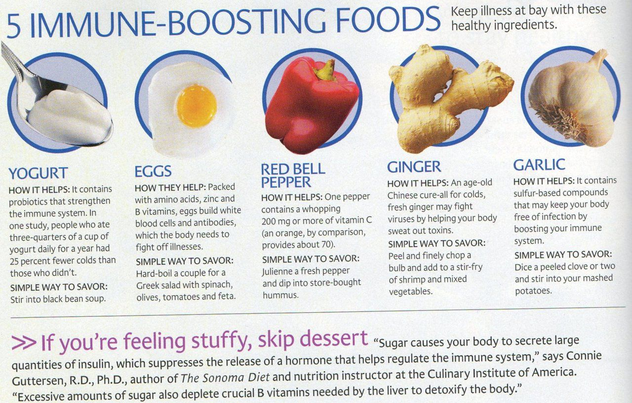 5 immune boosting foods... we all know I need this