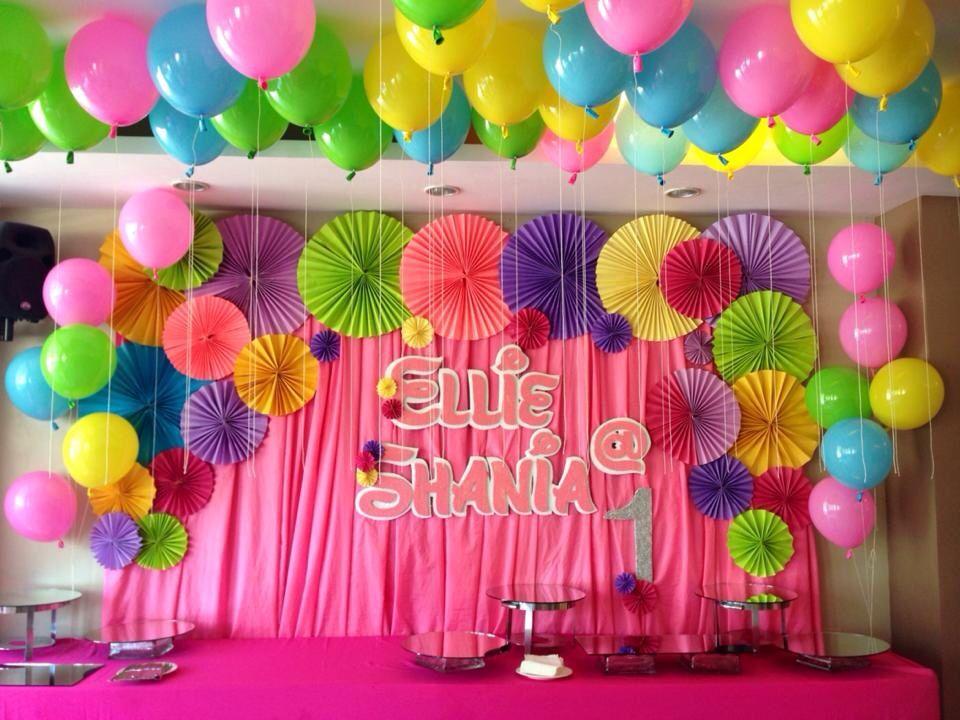 Birthday Party Backdrop Ellie's 1st Birthday Party Ideas