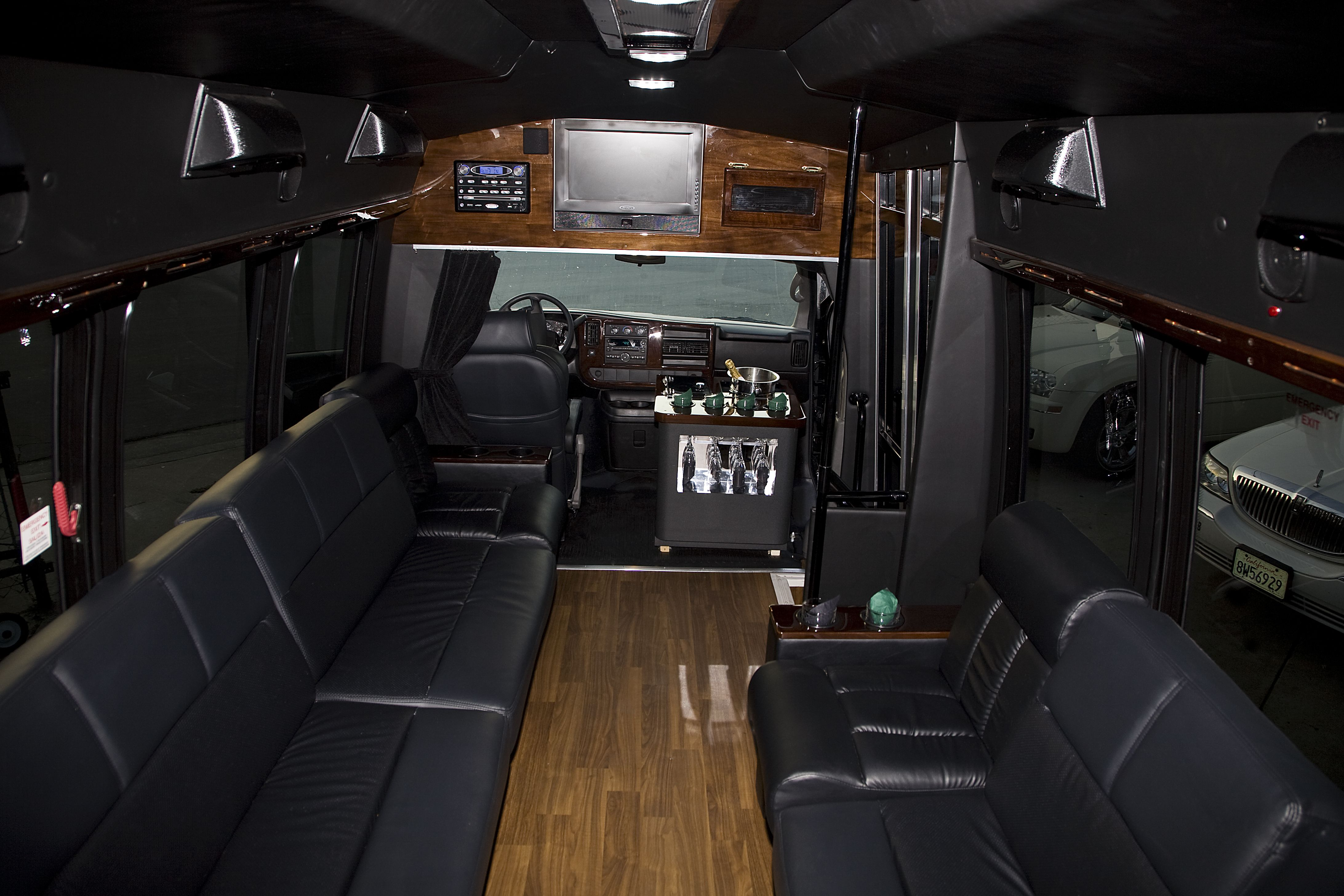 Limo Party Bus 14 Passenger Santa Barbara hourly weekday rate $95