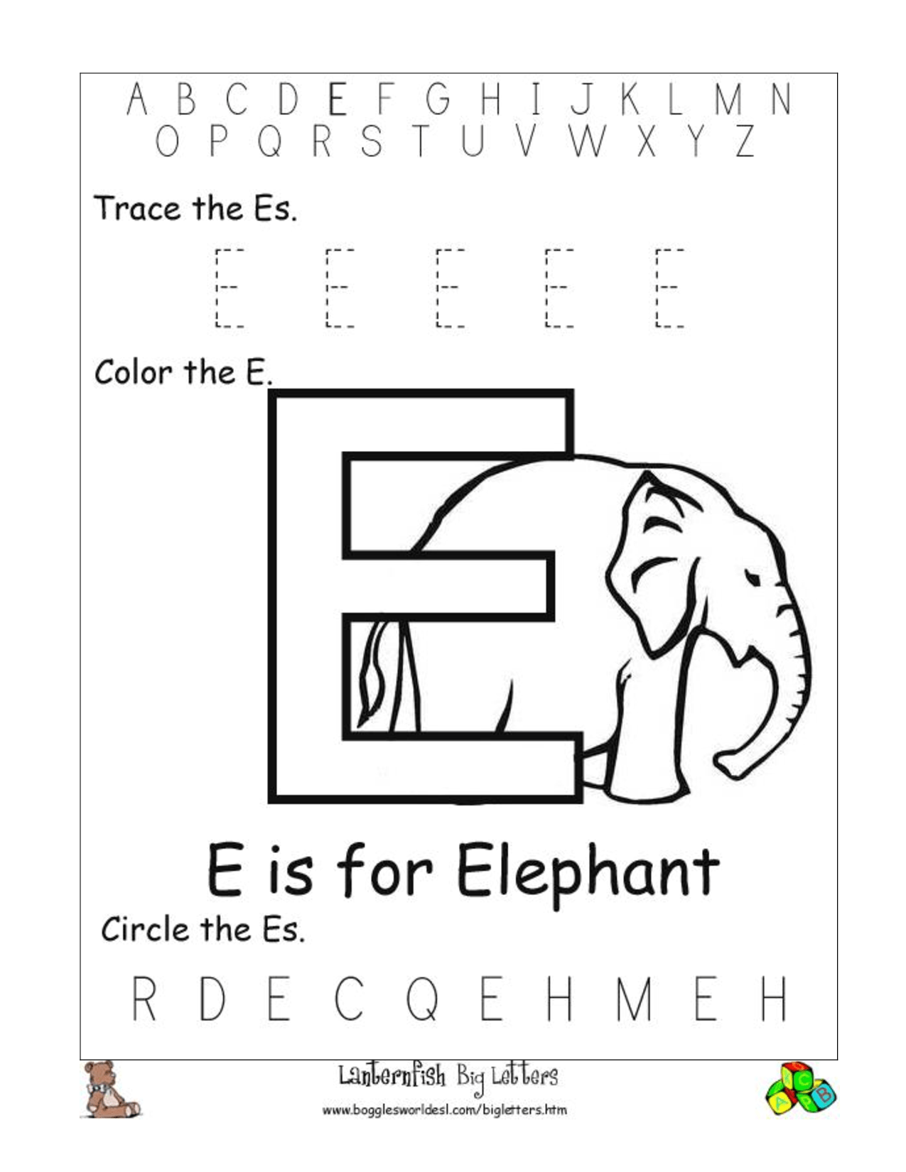 Free Printable Alphabet Letter Worksheets