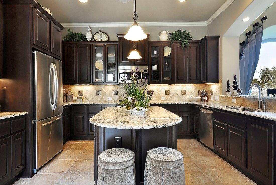 kitchen idea, dark brown kitchen House