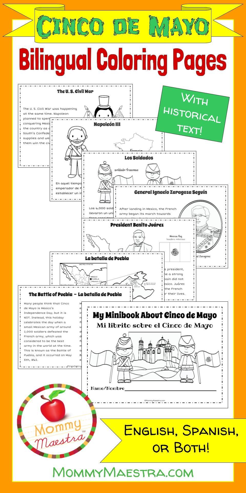 Cinco De Mayo Coloring Pages Cinco De Mayo De Mayo And Spanish